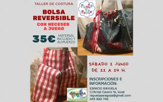 taller de costura - bolsa reversible