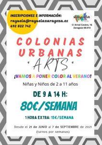 """colonias urbanas """"ARTS"""""""